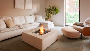 EcoSmart Fire Feuertisch Base, quadratisch fuer Indoor und Outdoor