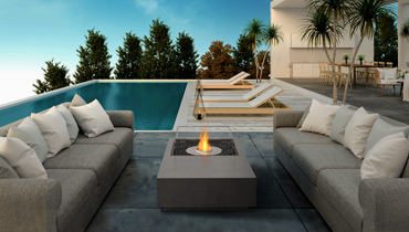 EcoSmart Fire Fire Table Manhattan for indoor and outdoor use