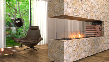 EcoSmart Fire Flex Fireplace 68C-Form for individual installation