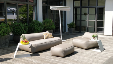 MOONICH Lounge: light, comfortable armchairs and sofas for the terrace