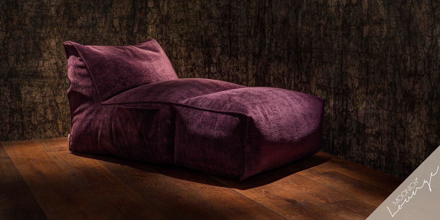 MOONICH Lounge: Liegesessel PIANOSA, besonders bequem, samt-weich, luftig-leicht, fuer Wohnzimmer, Wintergarten, Fernseher