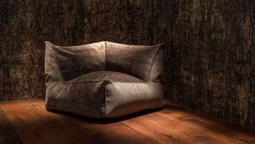 MOONICH Lounge: Sessel SALINA, besonders bequem, samt-weich, luftig-leicht, fuer Wohnzimmer, Wintergarten, Fernseher