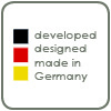 planned, designed, developed and manufactured in Germany