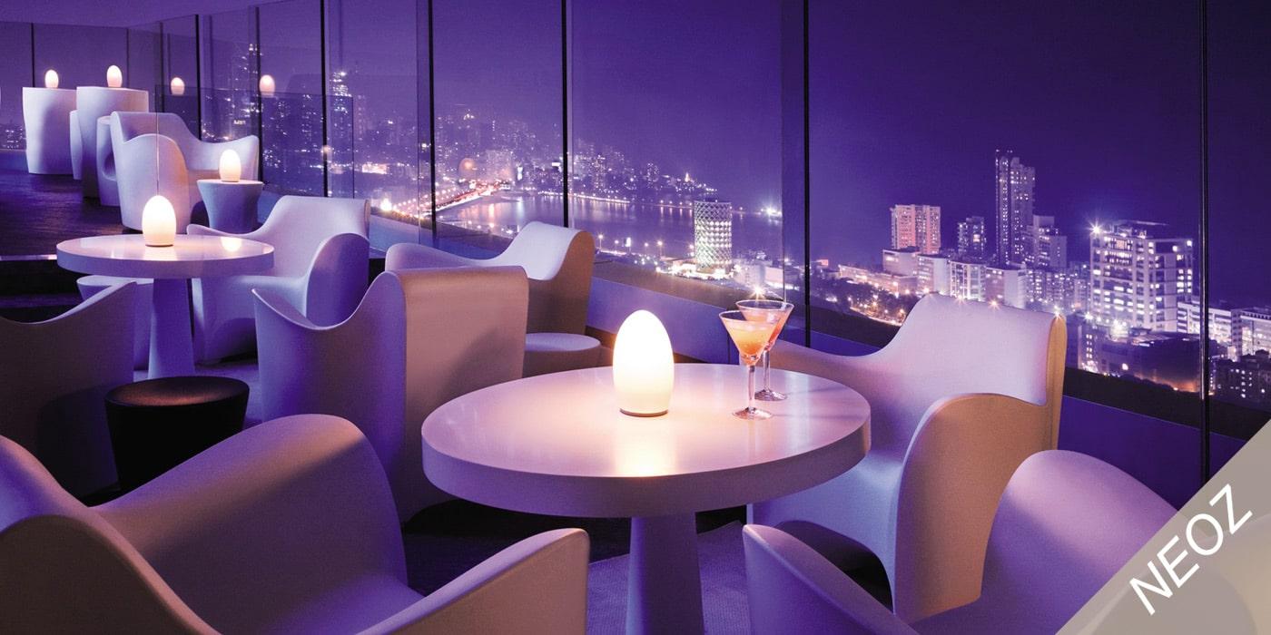 NEOZ kabellose Tischleuchten, Akku-Lampen, Interior-Design, Hotel, Café, Restaurant, Zuhause, Privat