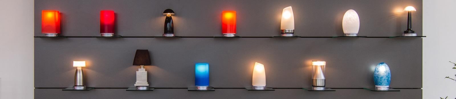 NEOZ: kabellose Tischleuchten, Akku-Lampen fuer exklusive Innenraeume
