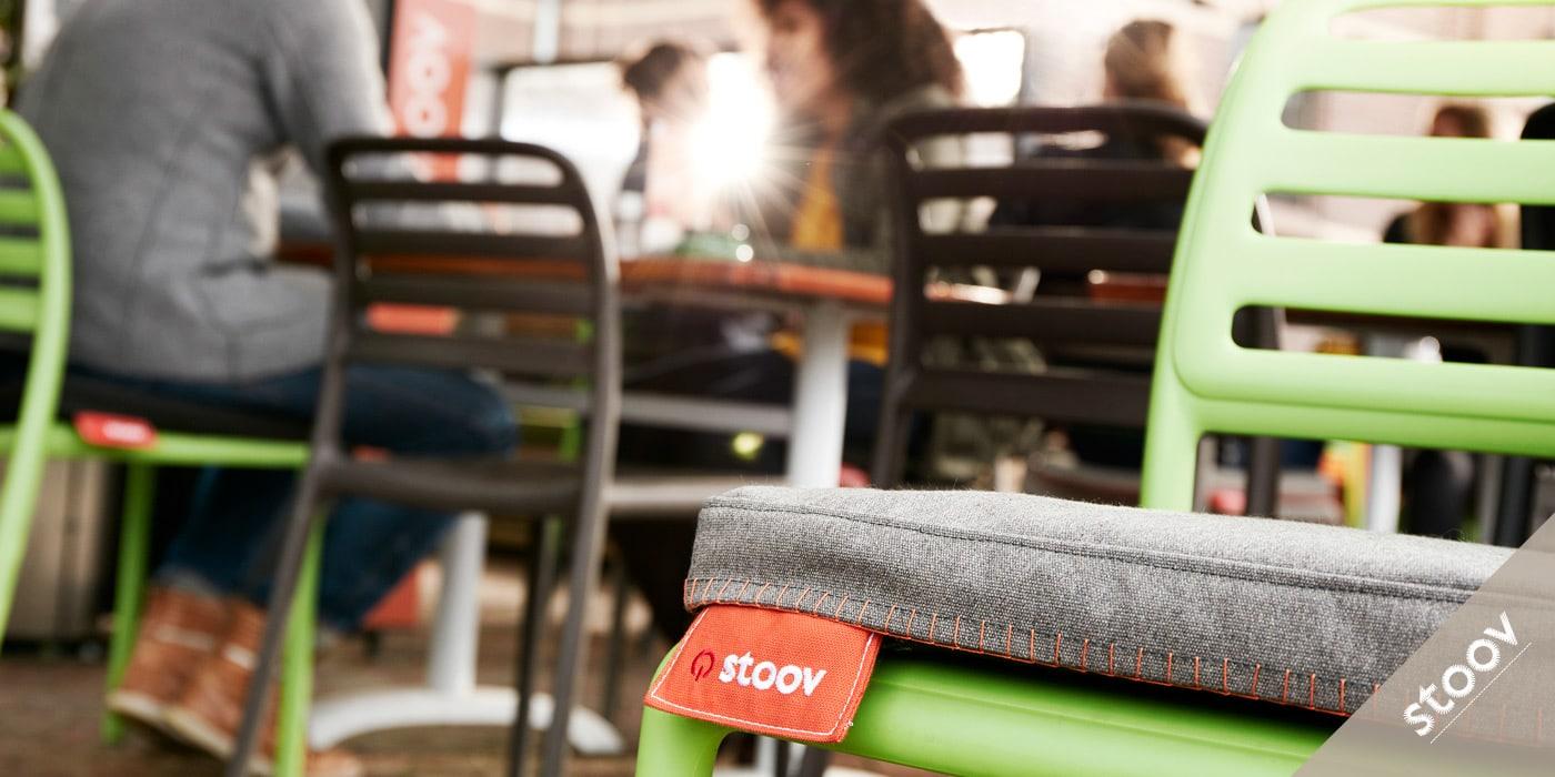 STOOV: Heizkissen fuer Restaurants, Cafés, Hotels und alle Aussenbereiche