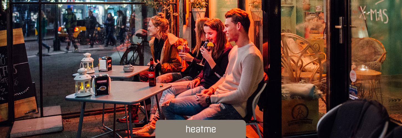 Heizkissen heatme, Akku-Waermekissen fuer Cafes, Restaurants, Aussengastronomie, Terrassen