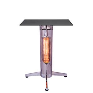 Sale: Mensa heating Infrarot Bistroheiztisch VIREOO, Chrome, Detailfoto