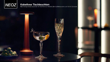 NEOZ kabellose Design-Leuchten Katalog