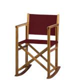 regiestuhl.de: Klappstuehle aus Holz, 22 Farben, Logo-Druck, ab 1 Stck., Modell: Helmut Schaukelstuhl, Brandy-Bordeaux